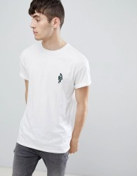 New Look T-Shirt With Snake Embroidery In White - White