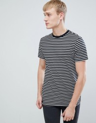New Look T-Shirt With Stripes In Black - Black