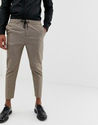 New Look trousers in hounds tooth check - Grey