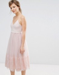 New Look Tulle Midi Prom Dress - Pink
