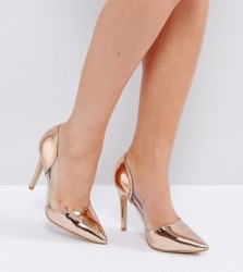 New Look Wide Fit Clear Pointed Heeled Shoes - Pink