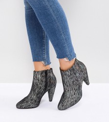 New Look Wide Fit Printed Cone Heeled Ankle Boot - Multi