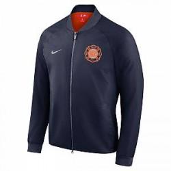 New York Knicks City Edition Nike Modern NBA-collegejakke til mænd - Blå