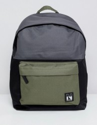 Nicce backpack in black with contrast panels and taping - Black
