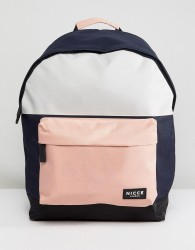 Nicce backpack with pink panels - Pink