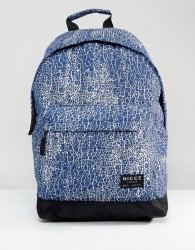 Nicce Cracked Backpack In Navy - Navy