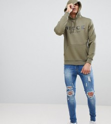 Nicce hoodie in green with large logo exclusive to asos - Green