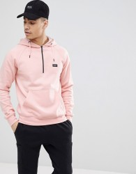Nicce hoodie with half zip - Pink