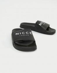 Nicce logo sliders in black - Black