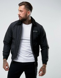 Nicce London Bomber Jacket In Black With Borg Collar - Black