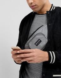 Nicce London Bum Bag In Reflective - Grey