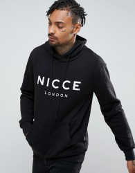Nicce London Hoodie In Black With Large Logo - Black