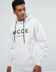 Nicce London Hoodie In Grey With Large Logo - Grey