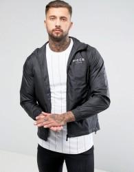 Nicce London Lightweight Jacket In Black With Hood - Black