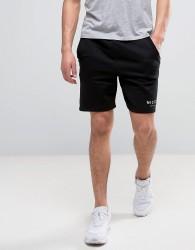 Nicce London Logo Shorts In Black - Black