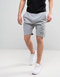 Nicce London Logo Shorts In Grey - Grey