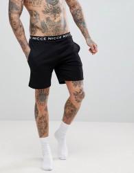 Nicce London Lounge Shorts With Waistband - Black