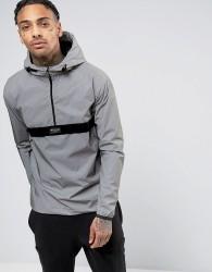 Nicce London Overhead Reflective Jacket - Grey