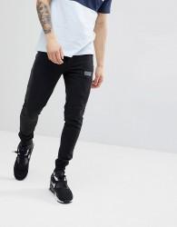 Nicce London Skinny Joggers In Black - Black