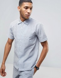 Nicce London Striped Shirt In Blue In Reg Fit - Blue