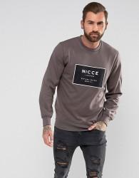 Nicce London Sweatshirt With Box Logo - Grey