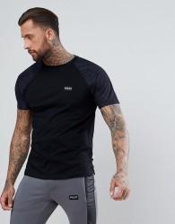 Nicce London T-Shirt In Black Suedette - Black