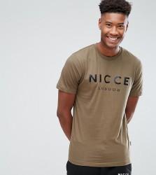 Nicce London TALL Logo T-Shirt In Green - Green