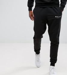 Nicce London TALL Skinny Joggers In Black - Black