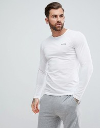 Nicce lounge long sleeve t-shirt in white - White