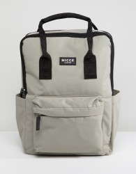 Nicce retro backpack in grey - Green