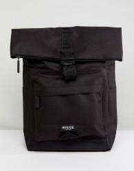 Nicce rolltop backpack in black - Black
