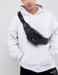 Nicce storming faux leather bum bag - Black