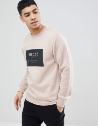 Nicce sweatshirt with box logo - Stone