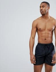Nicce swim shorts in black - Black
