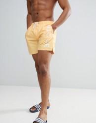 Nicce swim shorts with large logo - Yellow