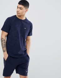 Nicce t-shirt in towelling - Navy