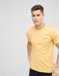 Nicce t-shirt in yellow with split logo - Yellow