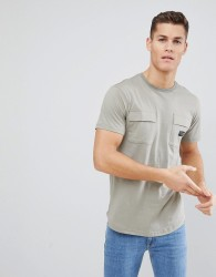 Nicce t-shirt with double pockets - Green