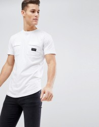 Nicce t-shirt with double pockets - White