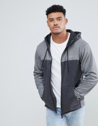 Nicce track zip thru hoodie in grey - Grey