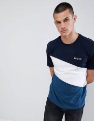 Nicce triad panelled t-shirt - Blue