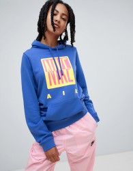 Nike 90S Hoody With Graphic Logo In Blue - Blue
