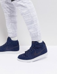 Nike Air Jordan 1 Retro High Strap Trainers In Navy 342132-400 - Navy
