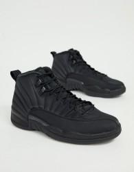 Nike Air Jordan 12 Retro Trainers In Black - Black