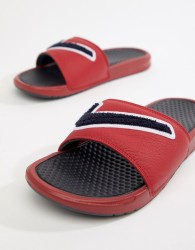 Nike Benassi JDI Chenille Sliders In Red AO2805-600 - Red