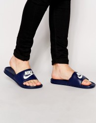 Nike Benassi JDI Sliders In Navy 343880-403 - Blue