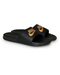Nike Benassi JDI Slides Black/Gold men US10 - EU44 Sort