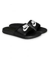 Nike Benassi JDI Slides Black/White men US9 - EU42,5 Sort