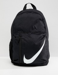 Nike Black Large Swoosh Logo Backpack - Black