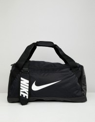 Nike Black Swoosh Logo Duffle Bag - Black
